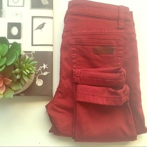 Joe's Jeans skinny Visionaire Red Wine color 24